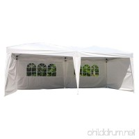 Z ZTDM 10' X 20' Pop Up Canopy Tent for Outdoor Wedding Party Event BBQ Commercial with 4 Removable Sidewalls Sunshade Snow Shelter Waterproof Folding Heavy Duty White - B0789Z3QRD