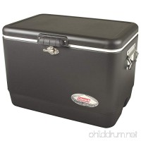 Coleman Steel-Belted Portable Cooler  54 Quart  Black - B00DP67KZ4