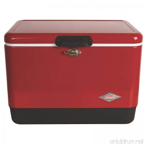 Coleman Steel-Belted Portable Cooler 54 Quart Red - B0009PURKE