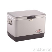 Coleman Steel-Belted Portable Cooler  54 Quart  Silver - B0029UOYCY