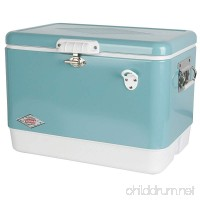 Coleman Vintage Steel-Belted Portable Cooler with Bottle Opener  54 Quart  Turquoise - B01F3JV4TS