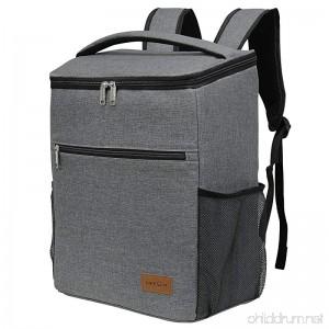 Lifewit Insulated Cooler Backpack Cooler Bag Soft Cooler Lunch Bag Soft-Sided Cooling Bag for Beach/Picnic/Camping/BBQ 24L Grey - B079K76V3P