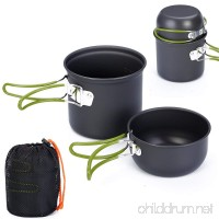 FidgetFidget Bowl Pan Outdoor Cookware Camping Picnic Cooking Nonstick Pots Set - B07F7YXKXX