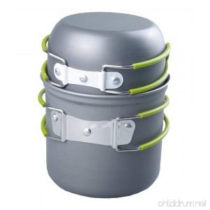 Portable Cookware Backpacking Bowl Pot Pan Cooking Kit - B07B7KMBN7