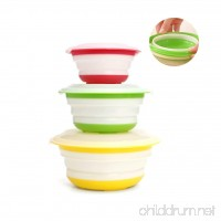 Stebcece Silicone Expandable Collapsible Bowl for Travel Camping Hiking - B076P8MXB5