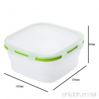 Travel Box Outdoor Silicone Collapsible Box Camping Bowl Food-grade Bowl With Lids Bpa-free - B07B93HPD8