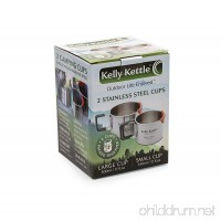 Camping Cups - Kelly Kettle - Packable - Stainless Steel - Large Cup is 17 oz. and Small Cup is 12 oz. - B00K1Y1QPS