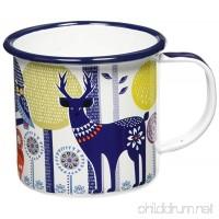 Folklore Enamel Camping Coffee Mug  Day Design  White  (14 Ounces) - B00NNYCP7Q