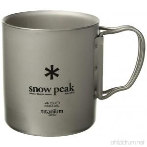 Snow Peak Titanium Double Wall Cup 450 - B00IADMNGS