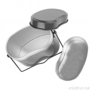 Dovewill Outdoor Lunch Box Army Soldier Set Mess Kit Canteen Kettle Pot Food Cup Bowl - B073WQFT8D