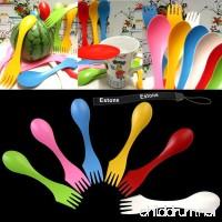 Estone® 6Pcs Travel Utensils Spoon Fork Knife Cutlery Camping Outdoors Spork Combo Set - B00NSAL5OO