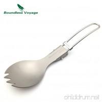 GADIEMKENSD 100% Titanium Lightweight Outdoor Dinnerware Eco-friendly Healthy Cutlery and Kitchenware - B01825NJW0