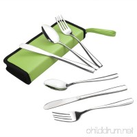 HOMMP 6 Pieces Stainless Steel Traveling/Camping Flatware Set - B07D6LM1V3