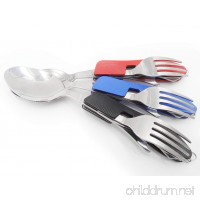 Mini Skater Set Of 3 Piece Spork of Steel  Gear 3-IN-1: Spoon  Fork & Knife Combo Utensil Equipment For Trekk Adventure Camp Cook Survival Bag Car Home Travel Medical Supplies & Backpack Kayak Sports Emergencies Hurricanes Columbia River Great As Camping Flatware  Work Lunches and Any Outdoor Activity - B01DDGUHY6