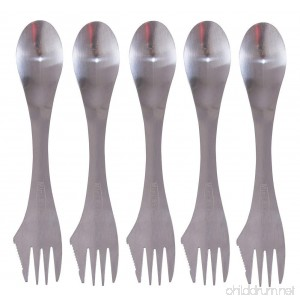 MINI SKATER Spork of Steel 3 in 1 Spoon Fork and Knife Combo Utensil for Adventure Camp Cook Home Travel Medical Supplies Sports Camping Flatware & Christmas Kitchen Flatware - B01DDENZ60