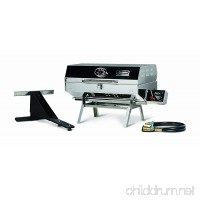 "Camco Olympian 5500 Stainless Steel Portable Gas Grill by Connects To Low Pressure Supply On RV  Includes RV Mounting Bracket And Folding Tabletop Legs - 180"" (57305) - B0014JN68O"