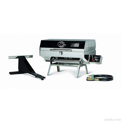 Camco Olympian 5500 Stainless Steel Portable Gas Grill By Connects To Low Pressure Supply On Rv Includes Rv Mounting Bracket And Folding Tabletop Legs 180 57305 B0014jn68o