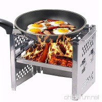 Unigear Wood Burning Camp Stoves Picnic BBQ Cooker/Potable Folding Stainless Steel Backpacking Stove - B072KGL1H1