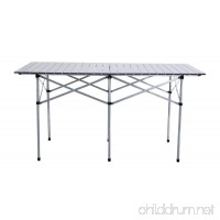 "55"" Roll Up Portable Folding Camping Square Aluminum Picnic Table w/Bag New - B0781XX6QZ"