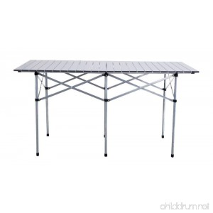 55 Roll Up Portable Folding Camping Square Aluminum Picnic Table w/Bag New - B0781XX6QZ