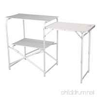 Alpine Mountain Gear Roll Top Kitchen Table  Grey - B00NQXPT90
