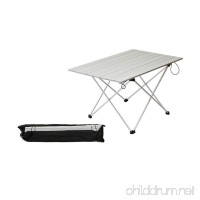 ASDOMO Portable Camping Tables with Aluminum Table Top  Hard-Topped Folding Table in a Bag for Picnic  Camp  Beach  Boat and Easy to Clean - B073P7P5PB