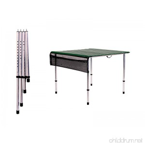 Camp Time Roll-a-table Green with Adjustable Legs - B018WY8ELW