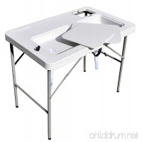 Coldcreek Ultimate Outdoor Workstation Perfect Fish and Game Cleaning Table Full Drain System 2 Sinks Quick Fold Easy Transport and Storage - B007VMFO0Q