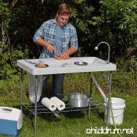 Deluxe Fish Cleaning Camp Table with Flexible Faucet - B01M13JCOP