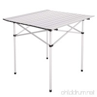 Gracelove Portable Aluminum Roll Up Table Folding Camping Outdoor Picnic Table Garden Yard - B01J1MNMKW