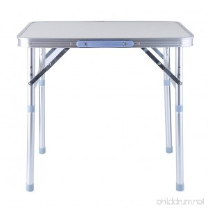 Isabelvictoria Portable Lightweight Height Adjustable Folding Table Indoor Outdoor Picnic Party Dining Camping Table With Handle - B07F6BHHYB