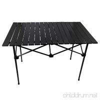 JQ&JQ Lighthweight Portable Stable Aluminum Folding Camping Picnic Table - B076KGWDJB