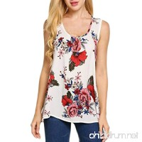 Ladies Blouse  Leedford Women O-Neck Sleeveless Printing Plus Size Vest Tops Loose T-Shirt Blouse - B07DSYQ564