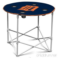 Logo Round Dining Table  Detroit Tigers Blue Camping Picnic Round Patio Table - B07D1FV1JZ