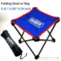 SAKATA Camping Stool Folding Fishing Stool  Picnic Table Stool  for BBQ Folding Table or Lightweight Camping Tables Portable  Camping Table with Stools - B07DY7X1QQ