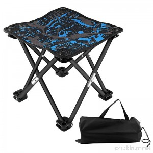 BlueStraw Portable Folding Stool Slacker Chair Mini Ultralight Outdoor Folding Chair for Camping Fishing Travel Hiking Garden Quickly-Fold Oxford Stool with Carry Bag - B079NS3W5G