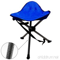 Camping Portable Folding Tripod Stool Outdoor Military Stool Chair Lightweight New Design for Fishing Travel Hiking Home Garden Beach including Bag and Shoulder Strap Blue   2 yrs warranty - B071CPT2Q2
