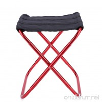 Dewin Folding Stool - Portable Folding Stool  Aluminum Alloy Fishing Chair  Outdoor Camping Seat - B07FPJ57KM