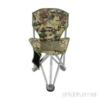 Geertop Folding Tripod Camping Chair Stool with Back Rest Mesh Pocket Heavy Duty Steel for Backpacking Hunting Fishing or Boat Cabin - B076CFS2TY
