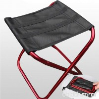 GEZICHTA Portable Folding Chair  Folding Camping Stool Aluminum Alloy Stool with Oxford Cloth Folding Chair for Hiking Fishing Hunting Picnic Travel - B07FK39RHD
