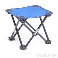 HUPLUE Outdoor Folding Camping Stool Folding Chair Portable Stable Foot Rest Seat for Fishing Camping Hiking Lightweight - B07FBH87KT