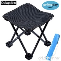 KAIYANG Mini Portable Folding Stool Chair Outdoor Camping Stool for Camping  Hiking  Fishing  Beach  Park with Carry Bag - B079M3RKWY
