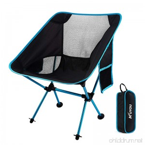 KUYOU Outdoor Fold Up Chairs Beach Chairs Ultralight Portable Camping Chairs with Carry Bag for Hiker/Camping/Beach/Fishing/Outdoor Picnic - B0791BH8GN