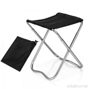 Leegoal Folding Camping Stool Mini Portable Folding Stool Outdoor Folding Chair Slacker Chair for BBQ Camping Fishing Travel Hiking Garden Beach 600D Oxford Cloth with Carry Bag - B07F8MJ9ZR
