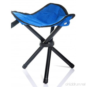 lychee Outdoor Three-Legged Foldable Folding Stool Camping Beach Fishing Chair Garden Seat Small Travelling Stool - B013WL1FKW