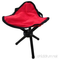 Mitef Small Triangular Stool Foldable Tripod Camp Chair Portable Seat Child Folding Stool For Indoor and Outdoor Activities - B074JFV41V
