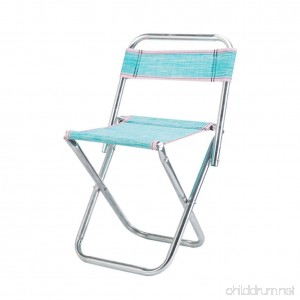 NEAER Portable Camping Chairs Foldable Backrest Stool for Fishing hiking Travel Garden BBQ - B07F689V6K