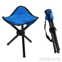 Portable Tripod Stool Folding Lightweight Chair Heavy Duty Foot Rest Seat for Outdoor Camping Walking Hunting Hiking Fishing Travel - B07BS669XS