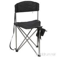 PORTAL Bermuda Triangular Pod Quick Folding Chair-Fishing Camping Chair  Black - B07476WDDG