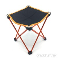 Silfrae Camping Stool Outdoor Folding Stool Portable Travel Chair with Carry Bag for Fishing Hiking Camping - B0734H63VS